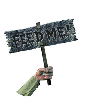 Feed Me Zombie Warnschild