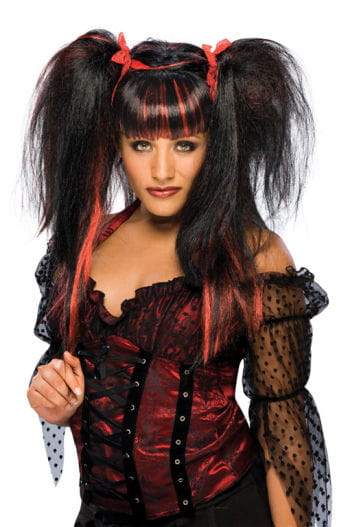 Fairy Wig Lilith Black/Red