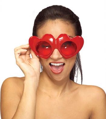 FireRed heart glasses