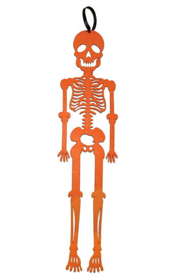 Hanging Skeleton Felt Orange
