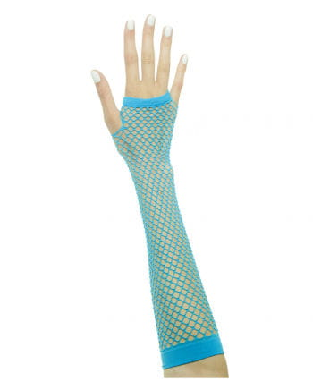 Fingerlose Netzhandschuhe Neonblau