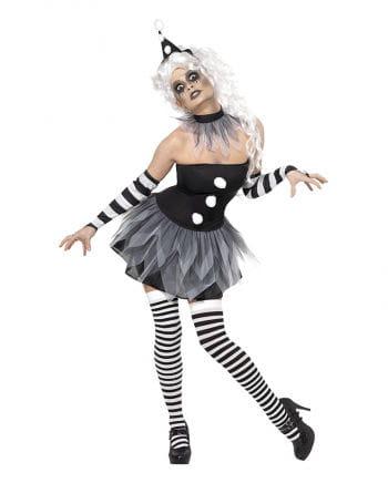Circus Sinister Pierrot Damen Kostüm