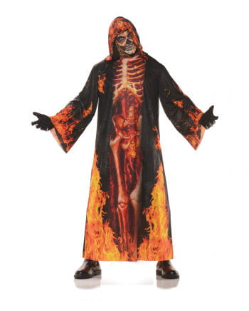 Flammen Skelett Robe