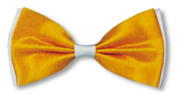 Bow Tie Yellow / White