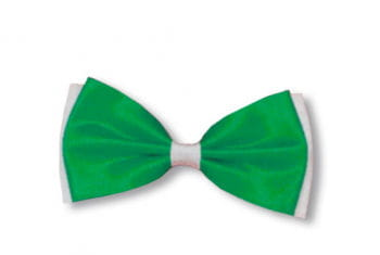 Bow Tie Green / White
