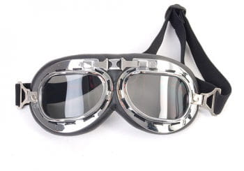 Aviator glasses black silver