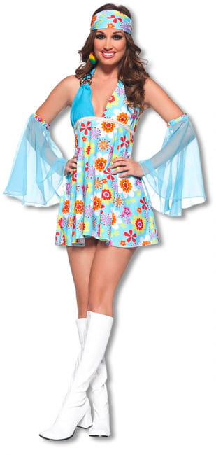 Flowerpower mini dress Small