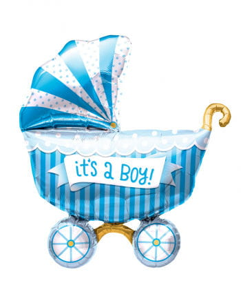 "Foil Balloon Baby Carriage ""It`s a Boy"""