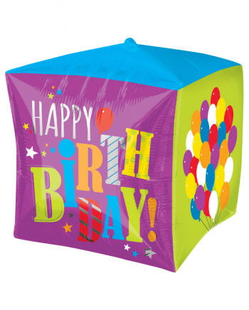 Foil Balloon Happy Birthday cube