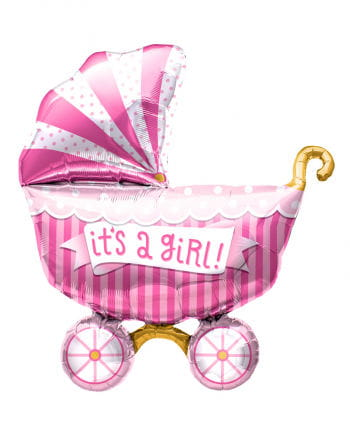 "Foil Balloon Baby Carriage ""It`s a Girl"""