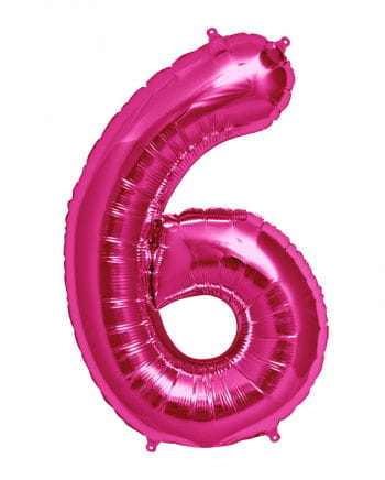 Foil Balloon Number 6 Pink