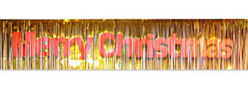 Fringe Garland Merry Christmas Gold