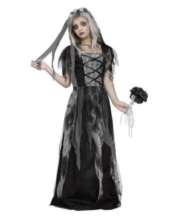 Graveyard Bride Child Costume with Veil
