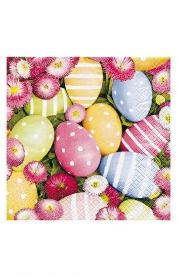 Spring napkins eggs motifs