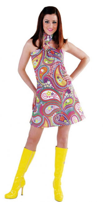 Funky Colors Hippie Kleid