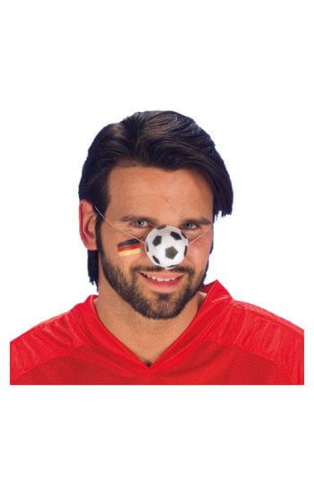 Fußball Nase schwarz/weiß