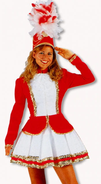 Carnival Guard Costume Red White M / 38