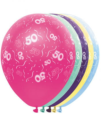 Birthday Balloons 50