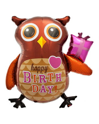 Foil balloon Happy Birthday Owl