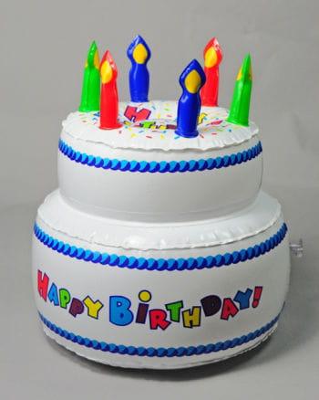 Geburtstagstorte aufblasbar