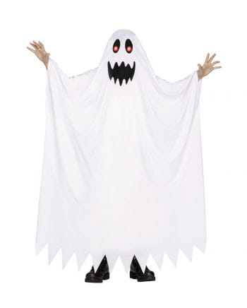 Ghost costume with shining eyes