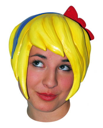 Anime wig with bow - Latex / Yellow
