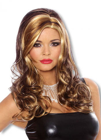 Curly Long Hair Wig Caramel
