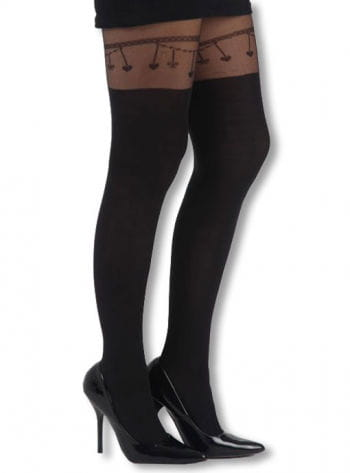 Patterned tights Strapsband