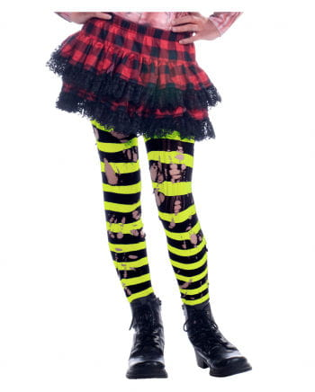 Striped shreds Neon tights
