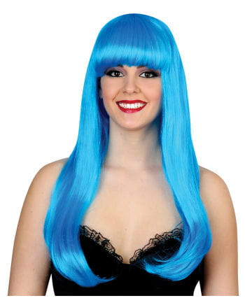 Glamour Diva Wig Neon Blue