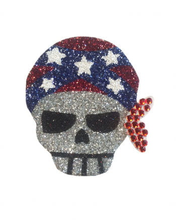 Glitter Tattoo Pirate Skull Bandana
