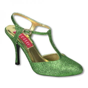 Glitter Pumps green