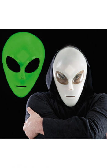 Glow in the Dark Alien Maske