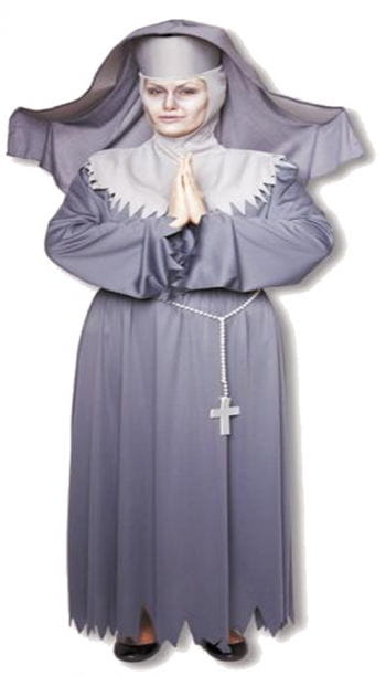 Ruthless Nun Costume Plus Size