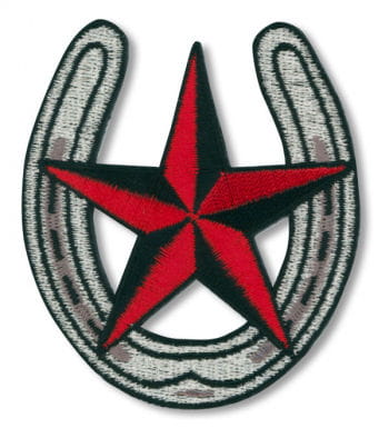 Horseshoe with nautical star Patches