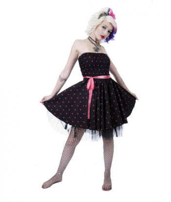 Rockabillykleid with Skulls and loop