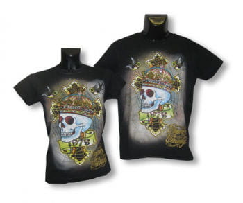 Unisex Shirt Skull Crown M/L 38-40