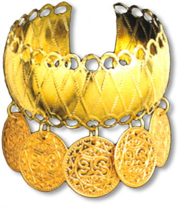 Golden Bracelet with Coins