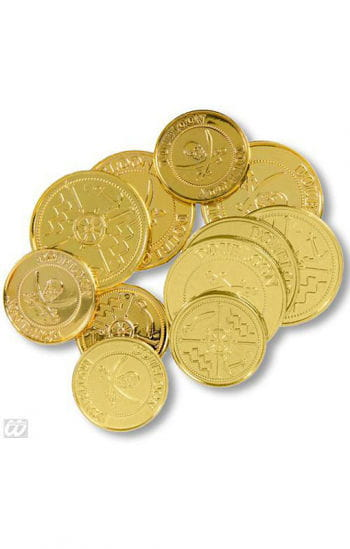 Golden Pirate Coins