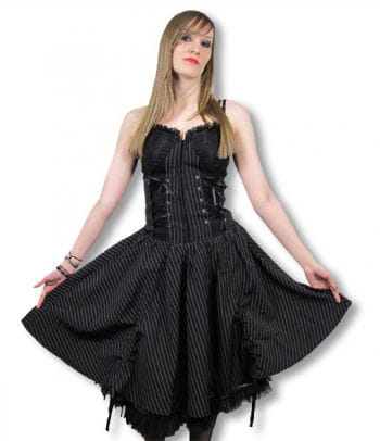 Gothic Pinstripe Dress Small