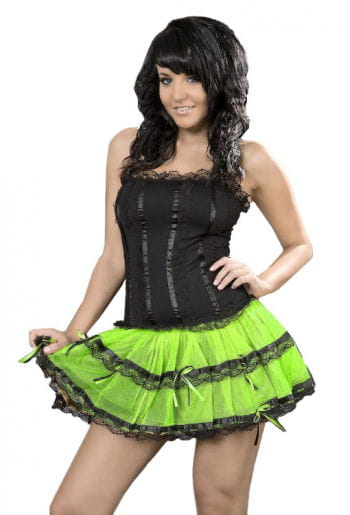 Mini dress black neon green