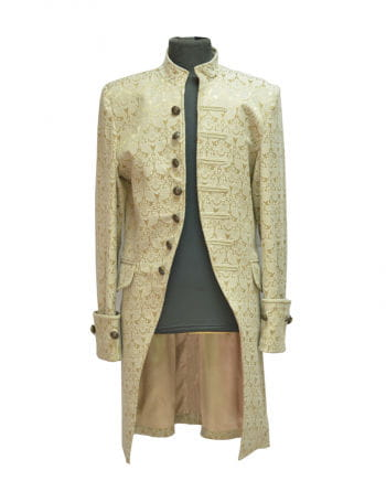 Gothic Brocade Coat Men beige