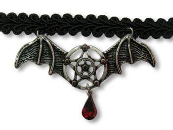 Halsband mit Fledermausflügel