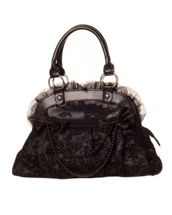 Handbag black with lace