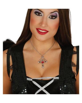 Gothic Halskette mit Kreuzanhänger