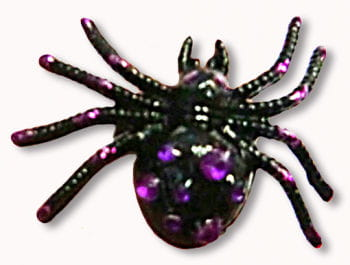 Gothic Ring Spinne schwarz