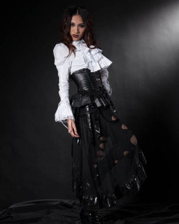 Gothic Rock in leather look with tulle