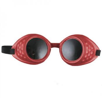 Gothic Schweißerbrille Rot