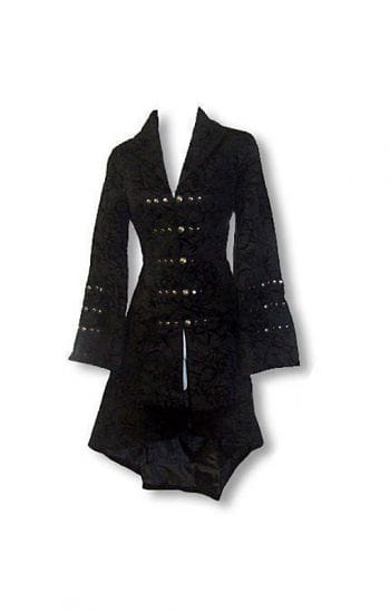 Gothic and Rockabilly coat with flock print XL