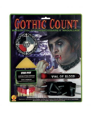 Gothic Vampir Make Up Set mit Vampirzähnen